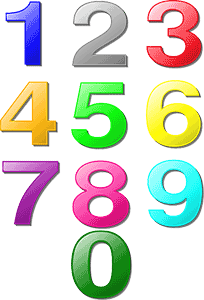 numbers-colorful